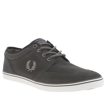 Mens Fred Perry Dark Grey Stratford Trainers