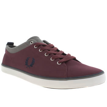Fred Perry Burgundy Hallam Trainers