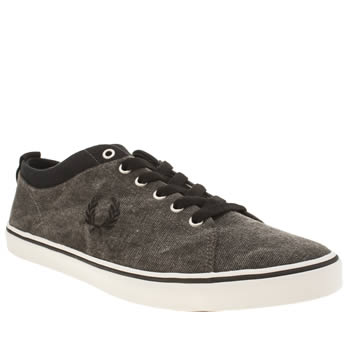 Mens Fred Perry Black Hallam Trainers