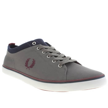 Mens Fred Perry Grey Hallam Trainers
