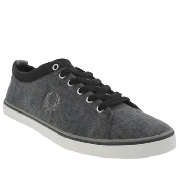 Mens Fred Perry Navy & Grey Hallam Trainers