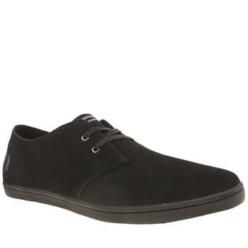 Fred Perry Black Byron Low Trainers
