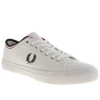 Mens Fred Perry White & Navy Kendrick Trainers
