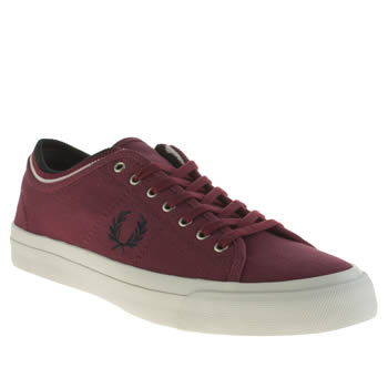 Mens Fred Perry Burgundy Kendrick Trainers
