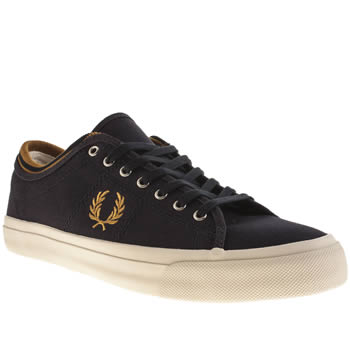 Mens Fred Perry Navy & Gold Kendrick Trainers