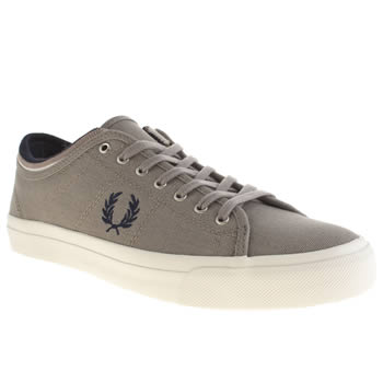 Mens Fred Perry Grey & Navy Kendrick Trainers