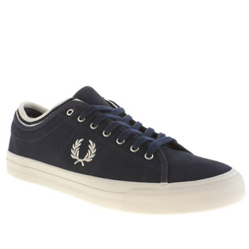 Mens Fred Perry Navy Kendrick Trainers