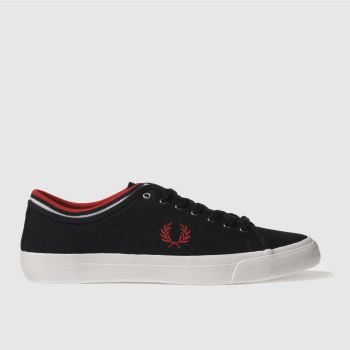 Fred Perry Navy Kendrick Tipp Mens Trainers