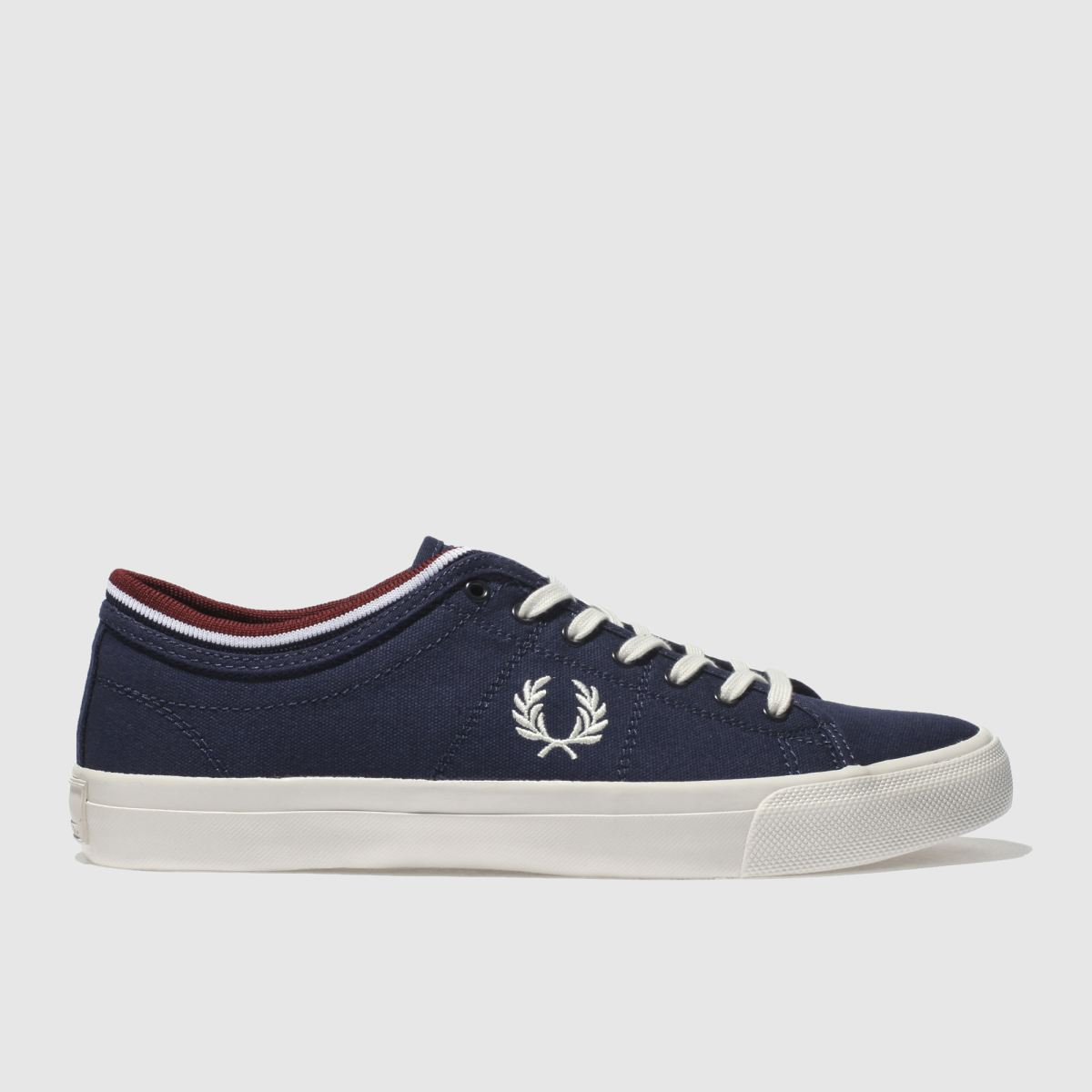 Fred Perry Navy & White Kendrick Tipp Trainers