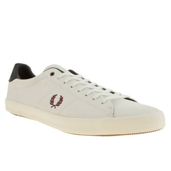 mens fred perry white howells leather bradley trainers