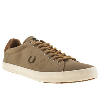mens fred perry tan howells trainers