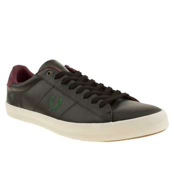 mens fred perry black howells leather bradley trainers