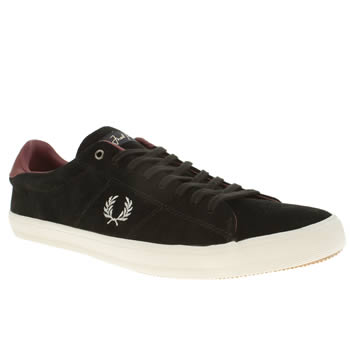 Mens Fred Perry Black Howells Trainers