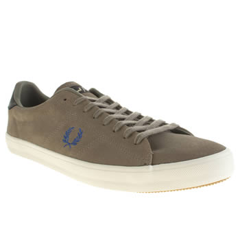 Mens Fred Perry Grey Howells Trainers