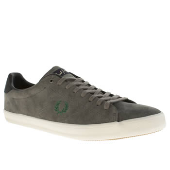 Mens Fred Perry Dark Grey Howells Trainers