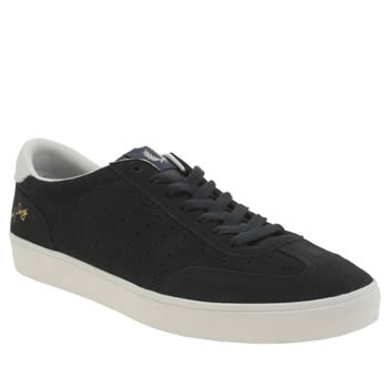 Mens Fred Perry Navy & White Umpire Trainers