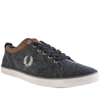 Mens Fred Perry Navy Hallam Trainers