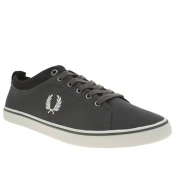 Mens Fred Perry Dark Grey Hallam Trainers