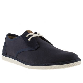 Mens Fred Perry Navy Kingston Delby Trainers