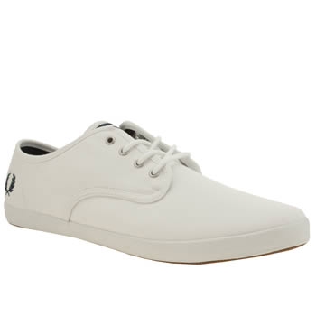 Mens Fred Perry White Foxx Trainers