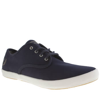 mens fred perry navy foxx trainers
