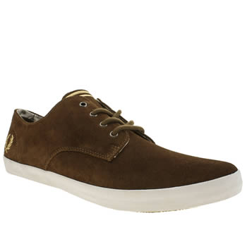 Mens Fred Perry Brown Foxx Trainers