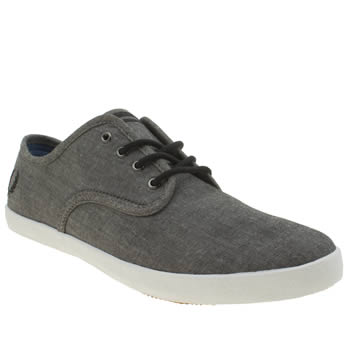 Mens Fred Perry Black Foxx Trainers