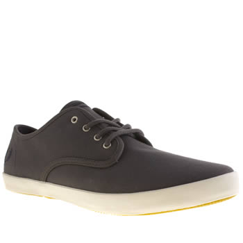 mens fred perry dark grey foxx trainers
