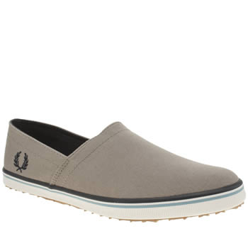 Mens Fred Perry Grey Kingston Stamp Down Trainers