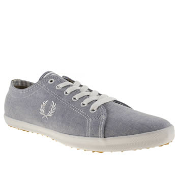 mens fred perry pale blue kingston ox shirt trainers
