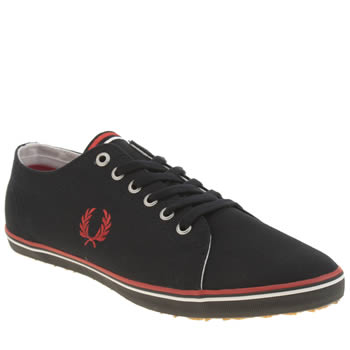 Mens Fred Perry Navy & White Kingston Twill Trainers