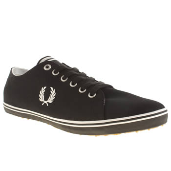 Mens Fred Perry Black Kingston Twill Trainers