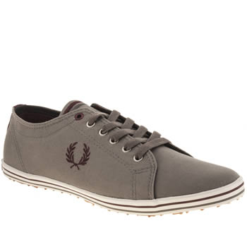 Mens Fred Perry Grey Kingston Twill Trainers