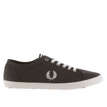 Mens Fred Perry Dark Grey Kingston Twill Trainers