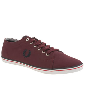 Fred Perry Burgundy Kingston Twill Trainers