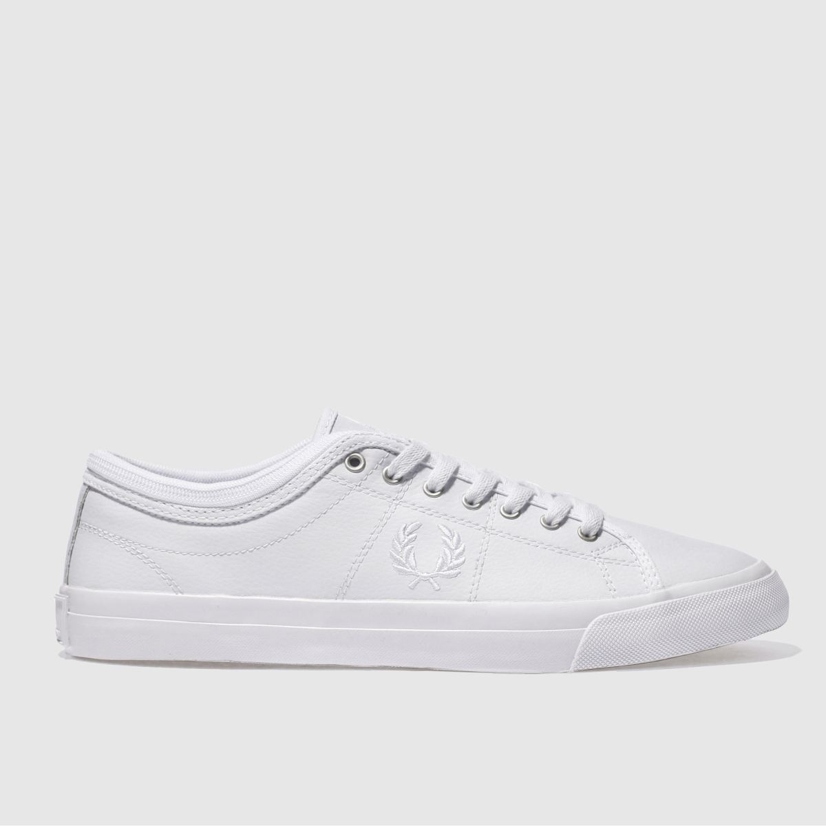 fred perry white kendrick tipp leather trainers