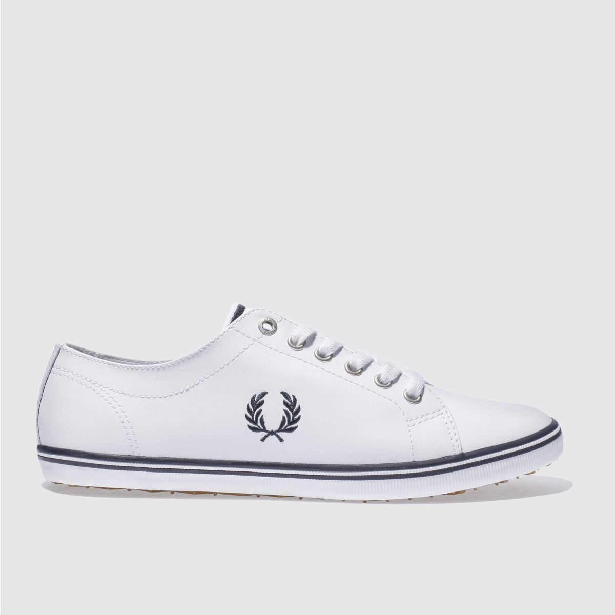 Fred Perry White & Navy Kingston Leather Trainers