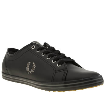 Fred Perry Black Kingston Leather Trainers