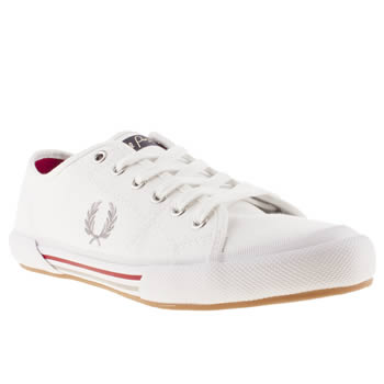 mens fred perry white vintage tennis trainers
