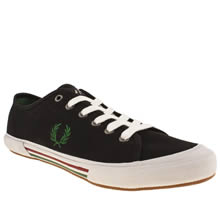 Black & Green Fred Perry Vintage Tennis