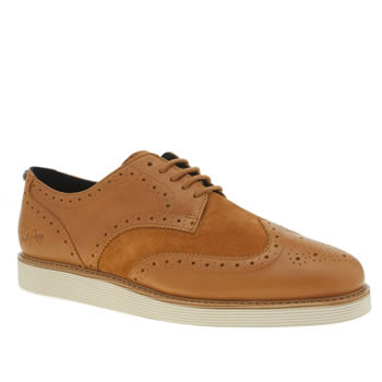 Mens Fred Perry Tan Newburgh Brogue Shoes