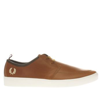Fred Perry Tan Shields Trainers