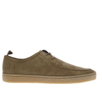FRED PERRY TAN SHIELDS CREPE TRAINERS