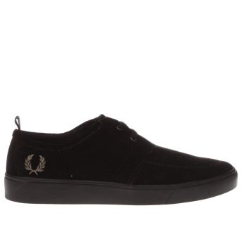 Fred Perry Black Shields Mens Trainers
