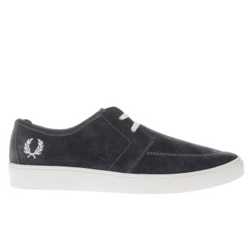 Fred Perry Dark Grey Shields Trainers