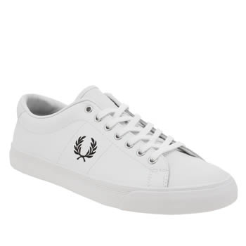 Fred Perry White & Black Underspin Mens Trainers