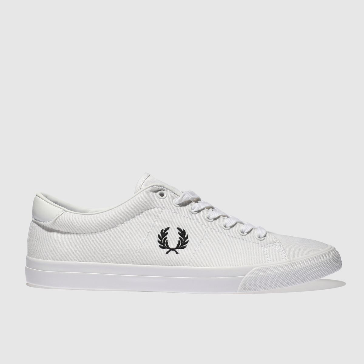 Fred Perry White & Black Underspin Trainers