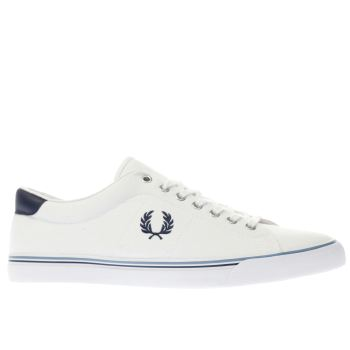 Fred Perry White & Navy UNDERSPIN Trainers