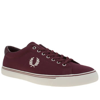 Fred Perry Burgundy Underspin Trainers