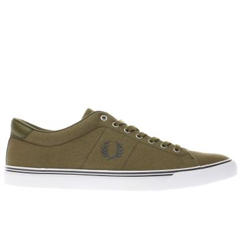 Fred Perry Khaki Underspin Mens Trainers